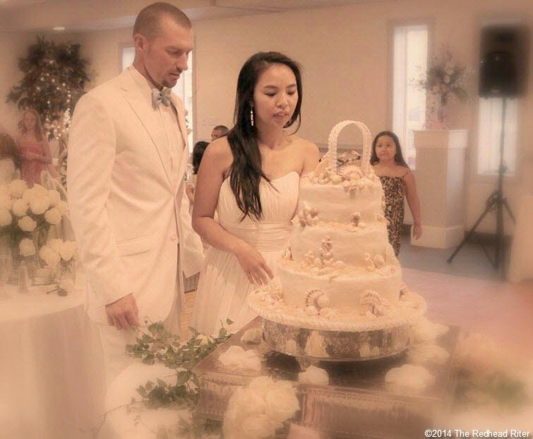 20 cake Outer Banks Beach Wedding reception 1