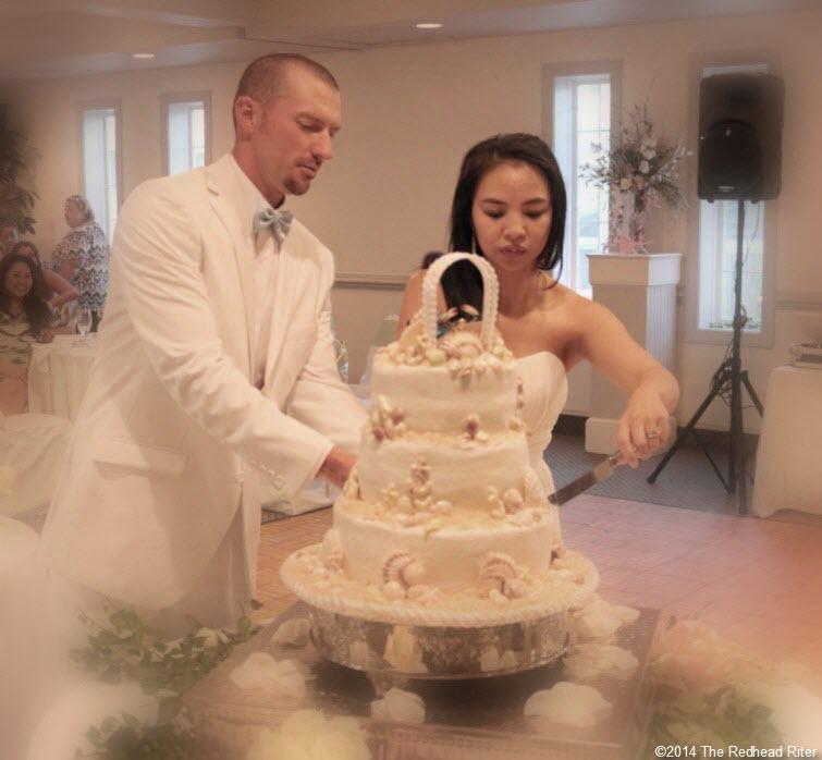 20 cake Outer Banks Beach Wedding reception 2