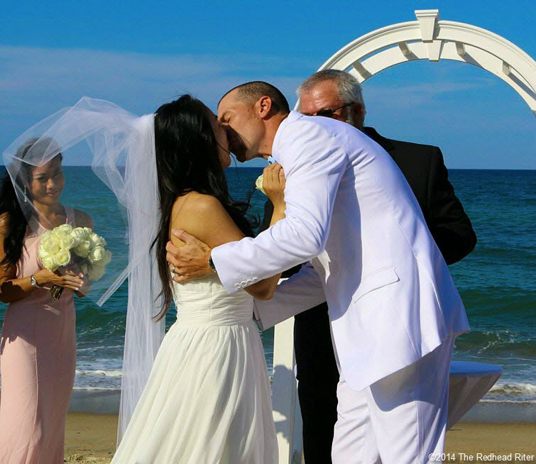 7 you may kiss the bride Outer Banks Beach Wedding 1