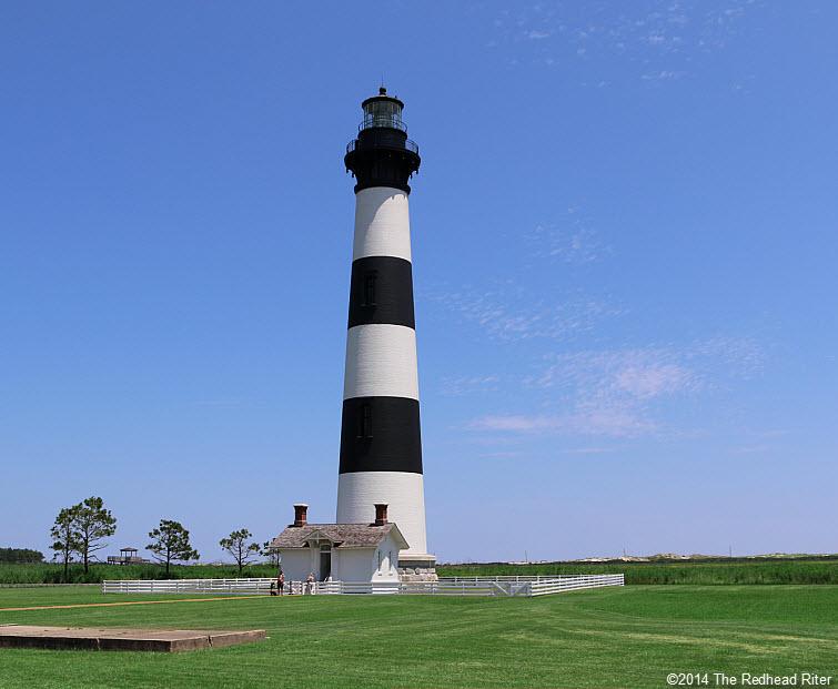 Bodie Island Lighthouse, Nags Head, NC full blue sky