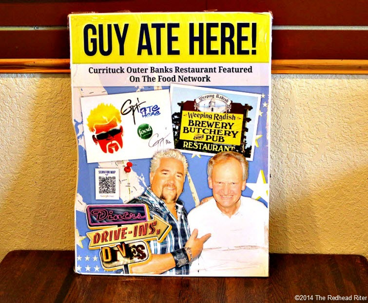 Guy Diners Driveins Dives ate Weeping Radish Outer Banks