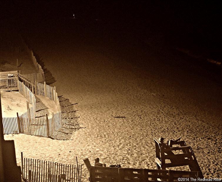 night beach outer banks north carolina obx nc