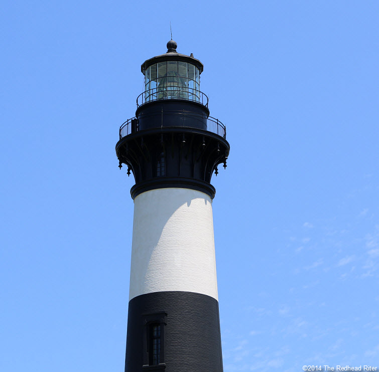 the top of Bodie Island Lighthouse, Nags Head, NC