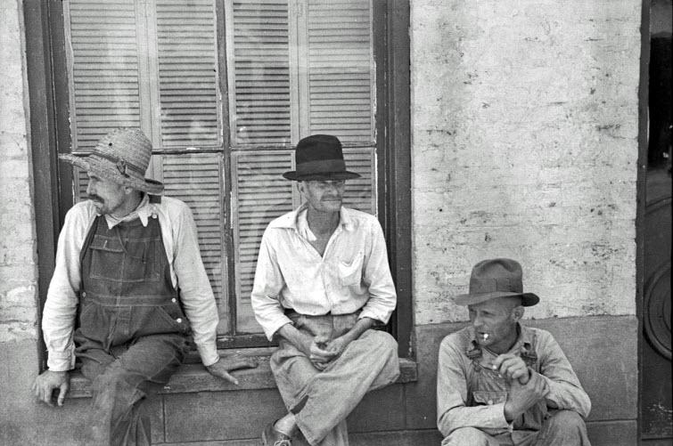 redneck southern men black and white