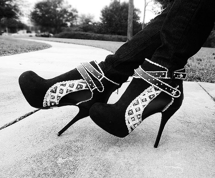 Black And White Cake Boots Wear Shoes Shoe Bakery Sweet Treats