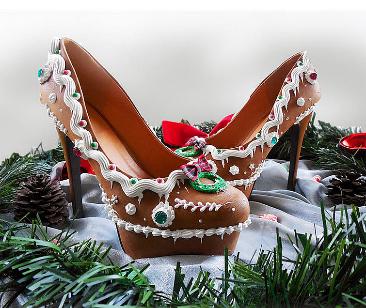 Gingerbread Heels Wear Shoes Shoe Bakery Sweet Treats