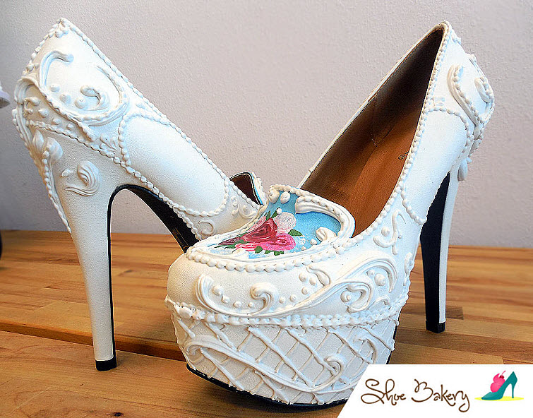 Victorian Cake Heels Wear Shoes Shoe Bakery Sweet Treats2