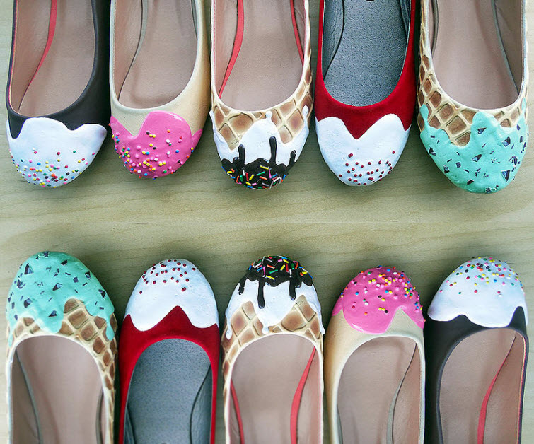 ice cream cake flats Wear Shoes Shoe Bakery Sweet Treats