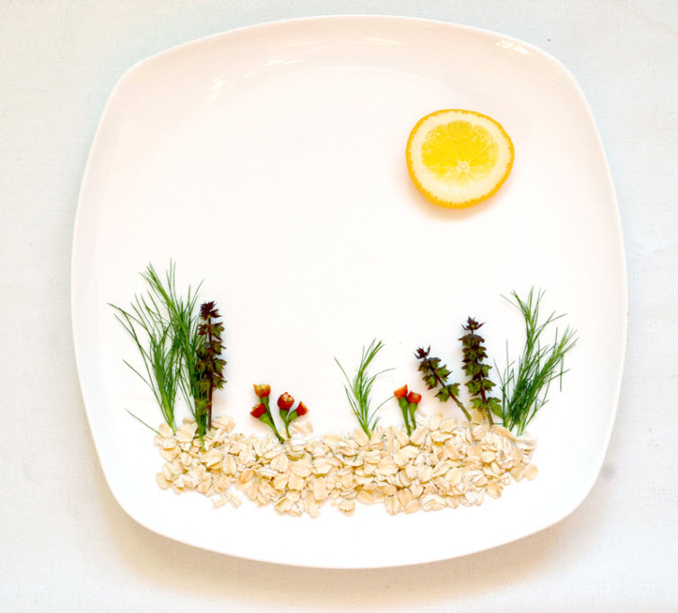 food oatmeal Artist Red Hong Yi Uses Unusual Mediums Of Feathers, Food, Sticks, Socks, Coffee And Melted Candles