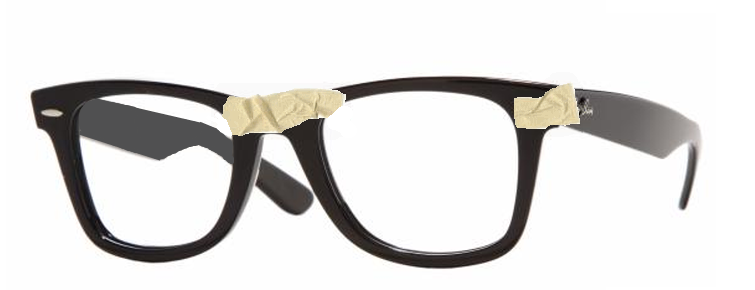 taped nerd glasses